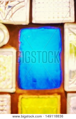 Blurred Photo Of Glass Blocks, Abstract Background