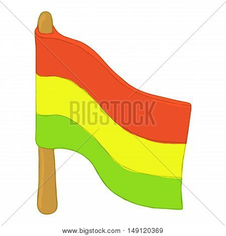 Flag rastaman icon in cartoon style isolated on white background. Youth subculture symbol vector illustration