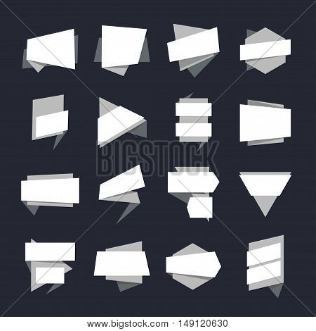 Abstract Geometric Banners Label Collection. Vector illustration