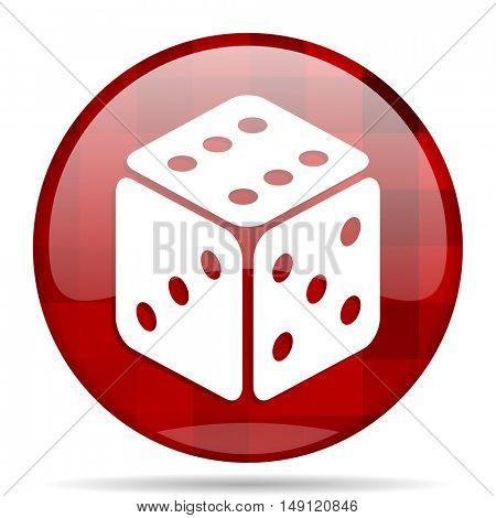 game red round glossy modern design web icon
