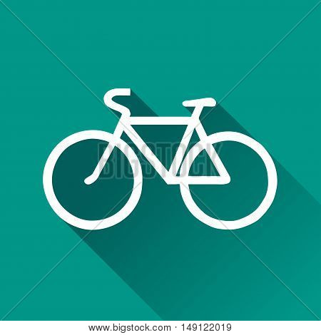 Illustration of bicycle design icon with shadow