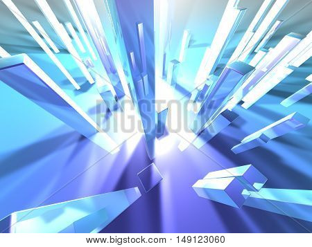 3d rendered illustration of an abstract background