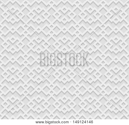 Seamless geometric pattern 3D white pattern indian ornament persian motif vector. Endless texture can be used for wallpaper web page background surface textures.