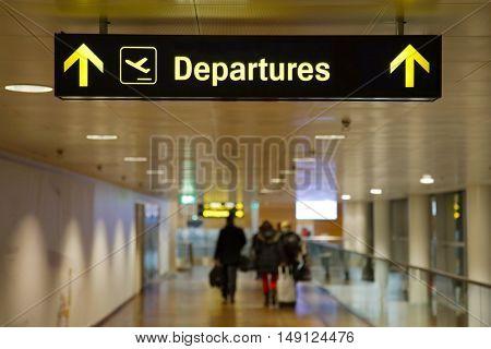 Airport departures hall