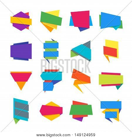 Abstract Geometric Label Template Collection. Vector illustration