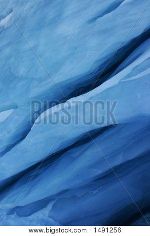 Primer plano del glaciar