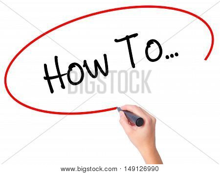 Women Hand Writing How To