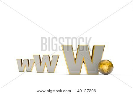 Globalization. International communication system. Creation and promotion of the website (image metaphor). Available in high-resolution and several sizes to fit the needs of your project. Background layout with free text space. 3D illustration rendering.