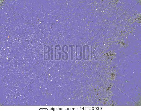 Bright blue asphalt particles shine, large particles