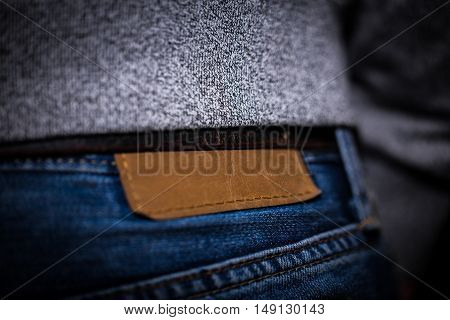 men jeans rear view closeup stylish things