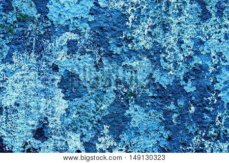 Blue Vintage Grunge Texture Of Old Decorative Tile Wall