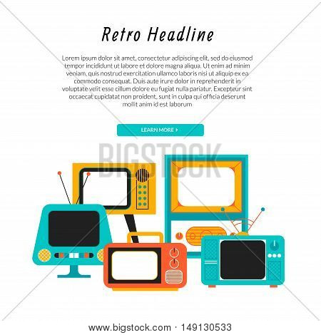 Retro television illustration. Can be used as banner or flyer