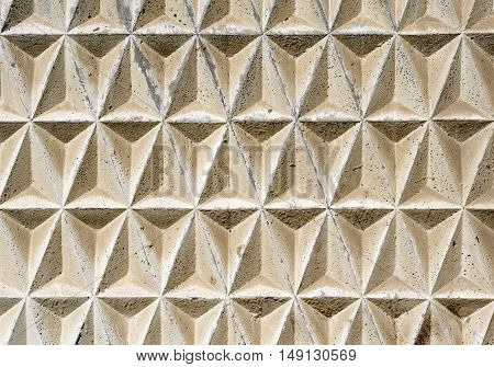 Contrasted Texture Of Geometric Triangular Decorative Tiles