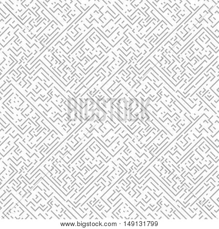 Geometric seamless pattern. Gray background with zigzags and stripes. Similar to retro memphis style, fashion 1980s - 1990s.