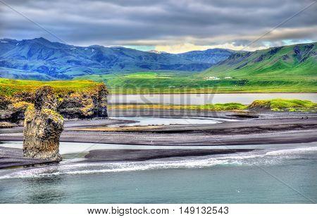 Reynisfjara, the Black Sand Beach of Vik in South Iceland