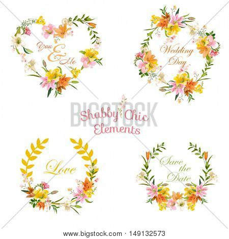 Vintage Floral Tags, Labels and Banners - for T-shirt, Fashion, Prints, Graphic Designs - in Vector