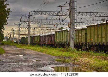 a freight train railroad and freight transportation