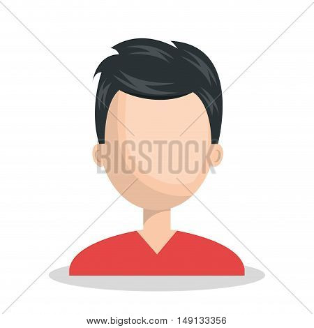 male character social network concept vector illustration eps 10