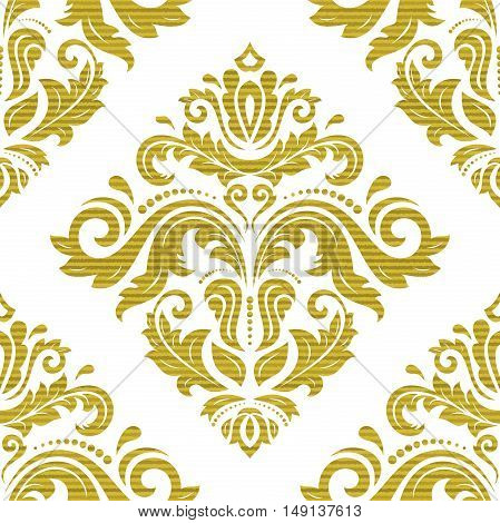 Seamless baroque vector pattern. Traditional classic orient golden ornament