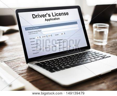Driver License Permission Drive Concept