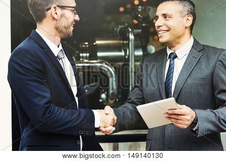 Businessmen Deal Handshake Agreement Concept