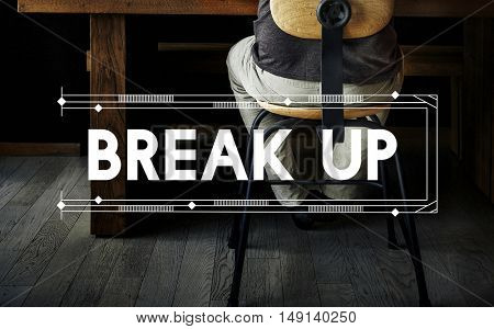 Break Up Relax Work Space Word Concept