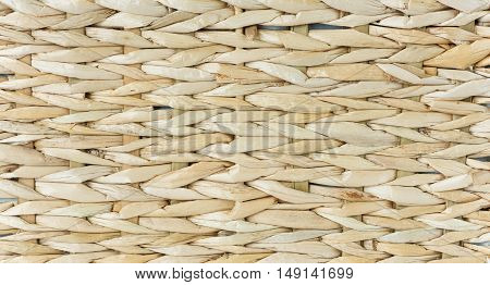 Wicker background surface of the bars close-up