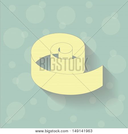 Yellow tape on the blue background with circles