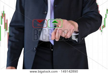 a wall street businessman and us dollar