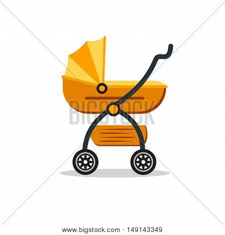 Baby Carriage. Flat Design Style. Child Transport. Vector illustration