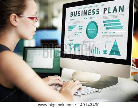 Business Management Marketing Global Plan Concept
