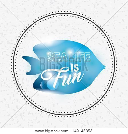 sea life conceptual poster vector illustration design