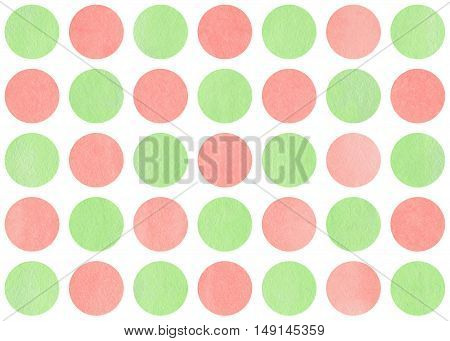 Watercolor Circles On White Background.
