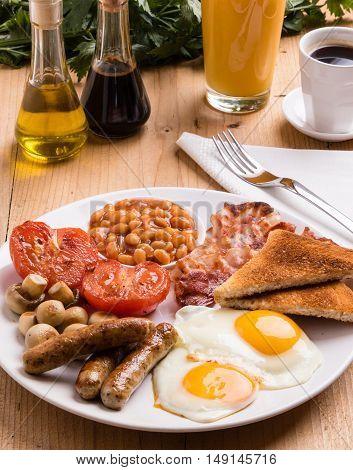 Rustic Full English Breakfast