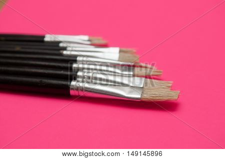 Set Of Artists Paint Brushes