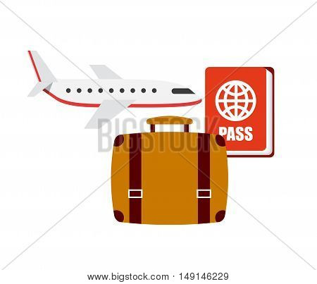 flight travel set icons vector illustration design