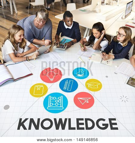 Wisdom Learning Knowledge Class Study Concept
