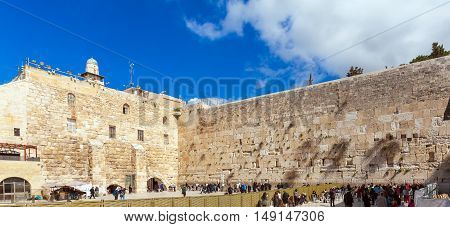 People Praying Near Western Wall Of Temple, Jerusalem