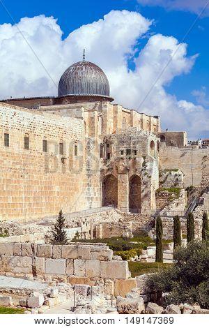 Al-aqsa Mosque At Day, Jerusalem, Israel