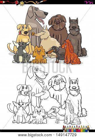 Cartoon Dogs Coloring Book