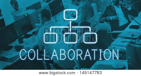 Collaboration Organization Chart Business Company Concept