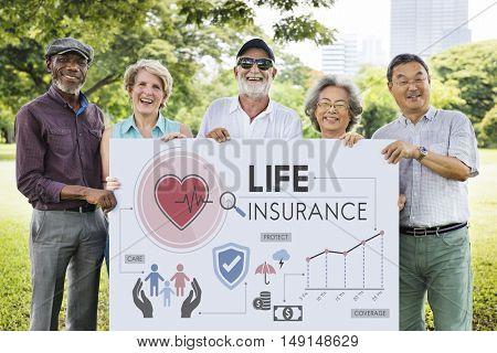 Life Insurance Senior Adult Investment Health Concept