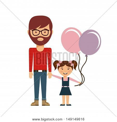 happy family members concept vector illustration design