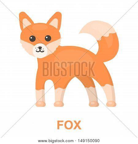Fox icon cartoon. Singe animal icon from the big animals collection.