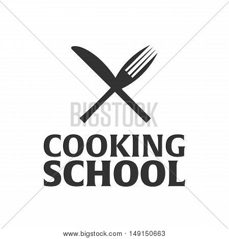 Cooking School Logo. Cooking Academy. Vector Illustration.
