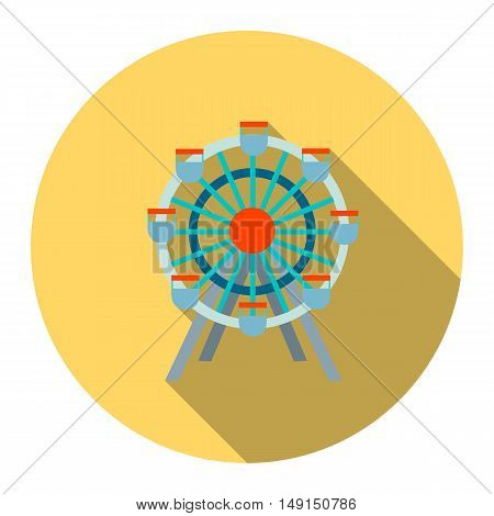Ferris wheel icon cartoon. Single building icon from the big city infrastructure collection.