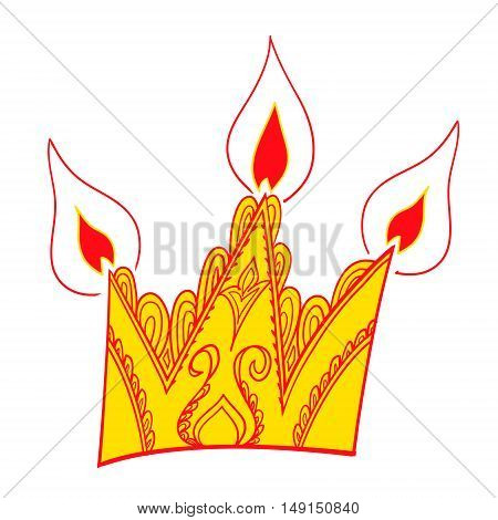 Crown vector. Colored vector illustration decorative element