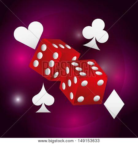 dice casino game icon vector illustration design