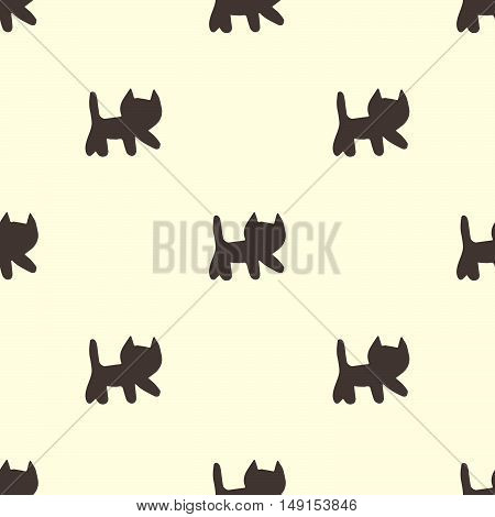 Sweet Cats Seamless Pattern