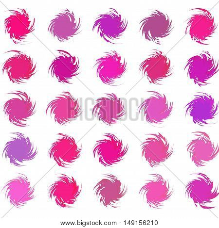 Abstract color art style pattern vector illustration